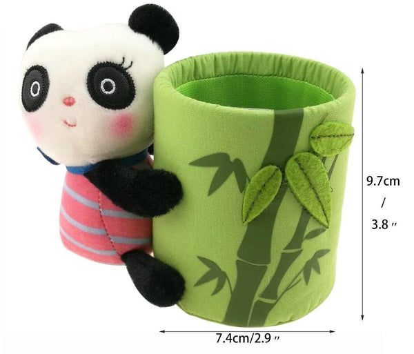 Kitchen cute black and white panda theme stationery set include 12 hb bamboo pencils 1 pencil holder 1 memo holder organizer 1 ceramic panda toy 1 keychain for kids school study gift