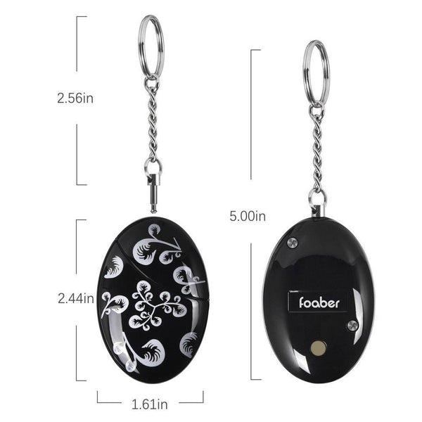 Select nice foaber personal alarm keychain personal alarms for women purse self defense keychain safe sound 120 130 db alarm device for women elderly kids night workers