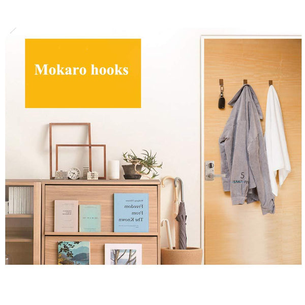 MOKARO Towel Adhesive Hooks Stainless Steel, Damage-Free Hanging Hooks Mini, 18-Hooks, Rectangle