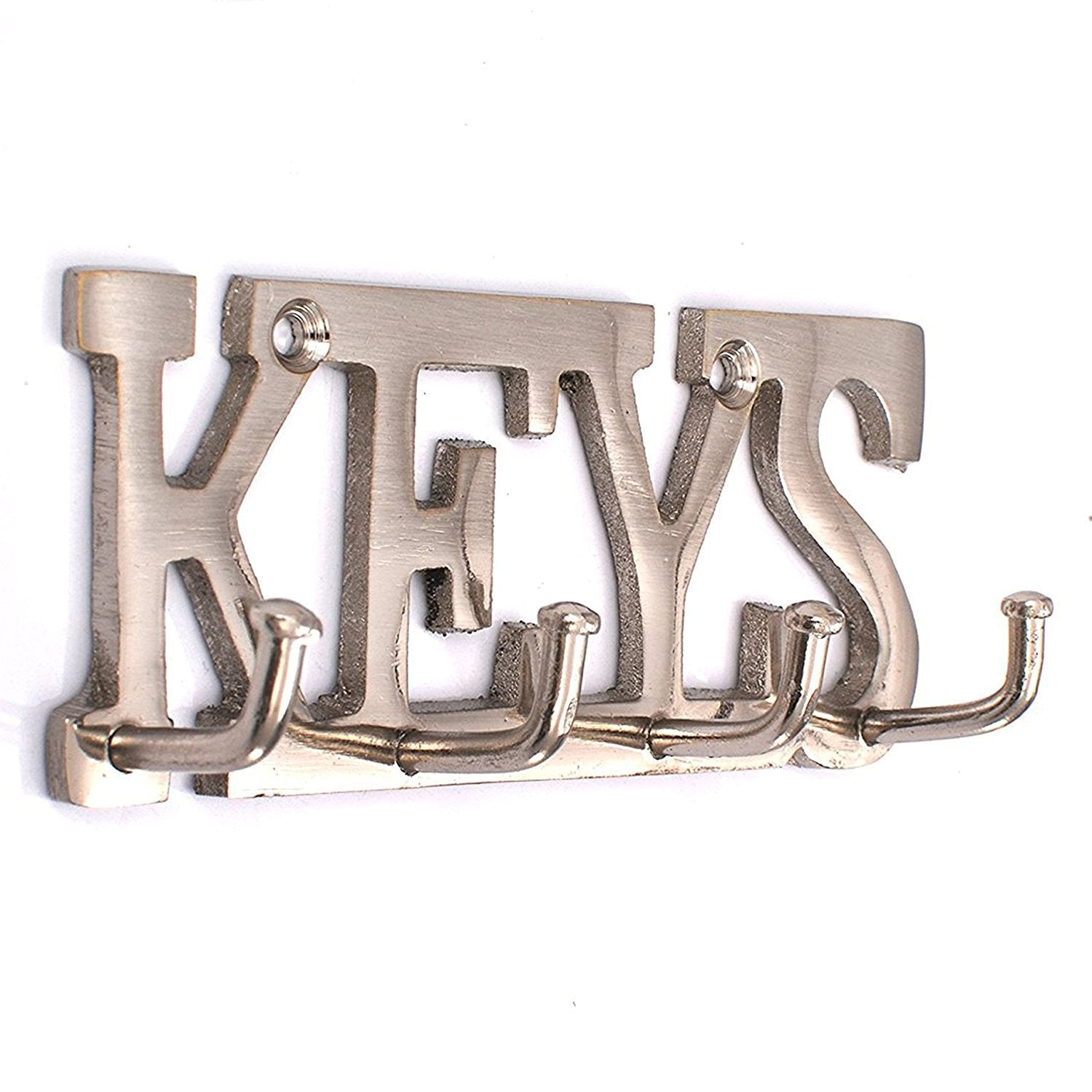 SAHAYA Keys Key Holder Stainless Steel Finish 11 Cms X 4 Cms (Silver) with for Home, Office, Decor, Gift 2 Free Key Chains