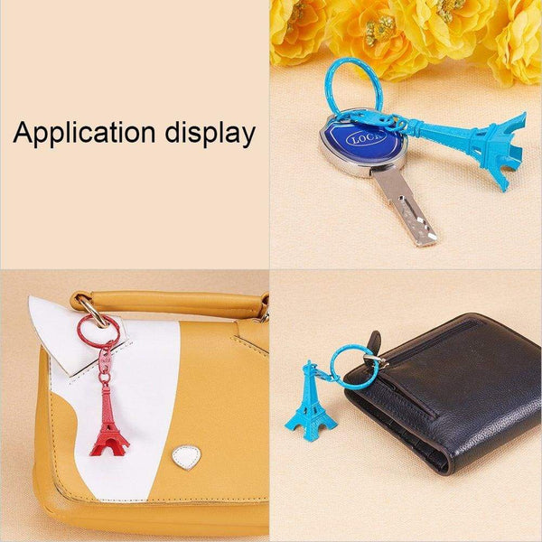 Discover nbeads 40 pcs mixed color retro alloy eiffel tower keychain split key ring keyring pendants accessories 49x21mm1 9x0 8