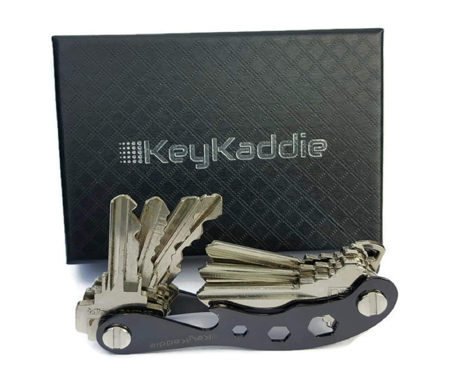 Save key holder compact key organizer multitool keychain and bottle opener including durable zinc frame black anti loosening spacers screws by keykaddie