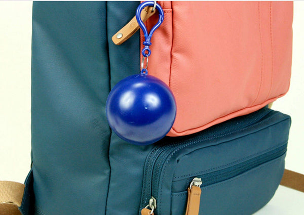 Featured emergency rain poncho with hood packaged in plastic keychain ball one size fits all commuter rain poncho survival kit accessory for travel backpacking picnics camping sporting outdoor events 4pk