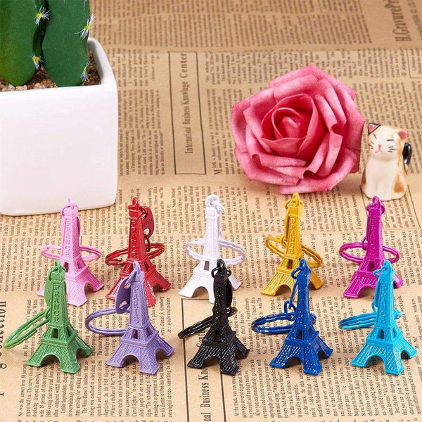 Discover the best nbeads 40 pcs mixed color retro alloy eiffel tower keychain split key ring keyring pendants accessories 49x21mm1 9x0 8