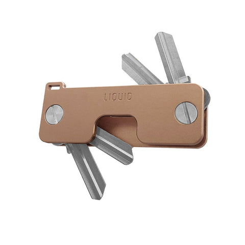 Liquid KeyCaddy Rose Gold (Silver Screws) Key Organizer