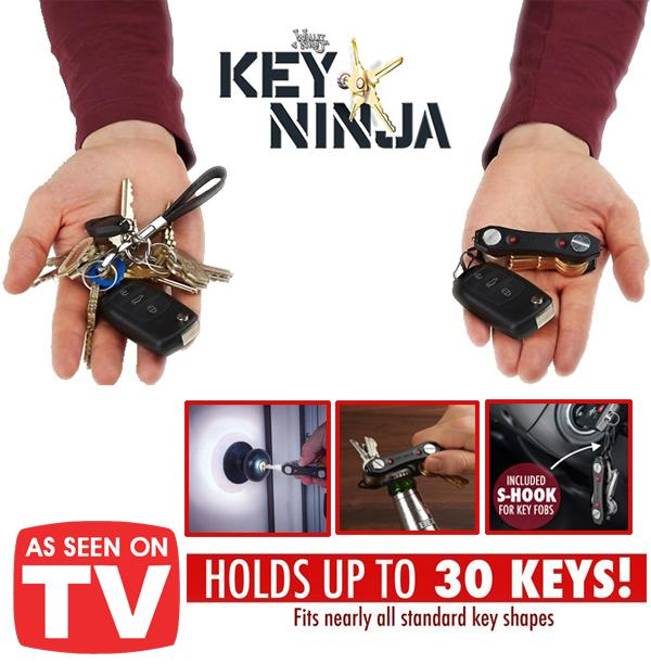 As Seen On TV Key Ninja Multifunctional Holder LED Lights Bottle Opener S Hook