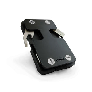 Liquid Wallet & Key Organizer Matte Black (Silver Screws)