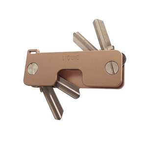 Liquid KeyCaddy Rose Gold (Brass Screws) Key Organizer