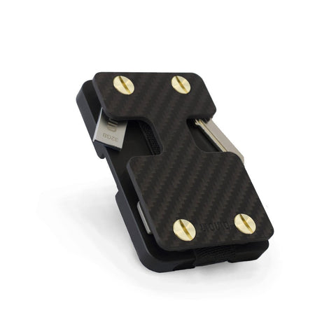 Liquid Wallet & Key Organizer Matte Black (Brass Screws) - Carbon Fibre
