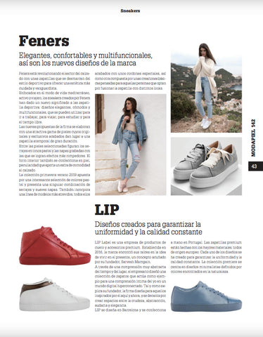 Feners Magazine Featuring LIP Label Sneakers