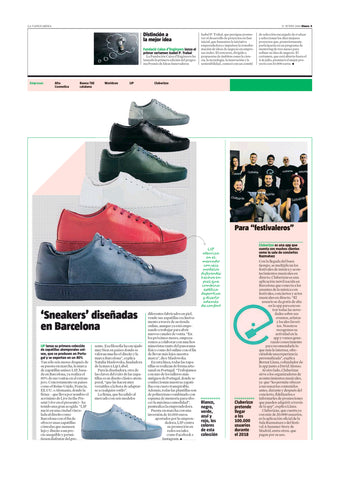 La Vanguardia Featuring LIP Label Sneakers - Full Page Article