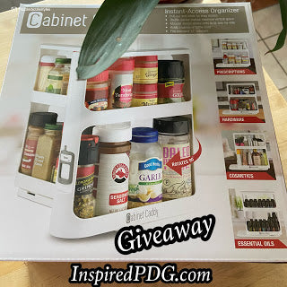 WIN Cabinet Caddy Organizer @InspiredPDG #homeorganizing #home #organization #usa #giveaway