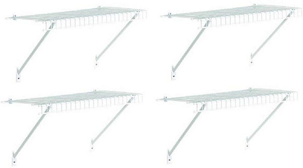 "(4) ea Closetmaid 104100 48"" x 12"" White Shelf Organizer Kit w Hardware"