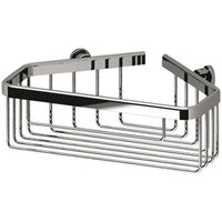 Sonia HOSPITALITY Wall Bathroom Chrome Corner Shower Caddy Shelf Organizer