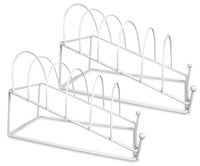 Plate Holder - White 6 Place Plate Stand - Set of 2 Stands - Dinner Plate Display(1460-2)