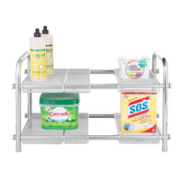 Cabrini Under Sink 2 Tier Shelf Organizer, Chrome