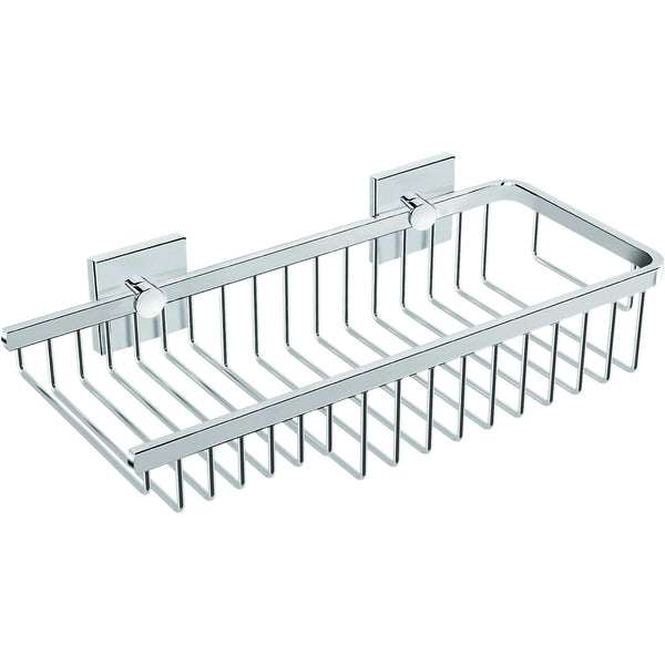 Square Self-Adhesive Bath Shower Caddy 12 in. Shelf Organizer Left Level Basket