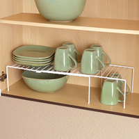 Expandable Cabinet Shelf - Medium White