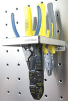 System X Storage SVS 268 Stainless Steel Premium Plier Holder for Pegboard (6.73 x 3.58 x 1.18 inches)