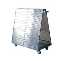 Triton Products LBC-18S LocBoard Anodized Aluminum Frame Stainless Steel Tool Cart with Tray