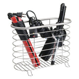 Select nice mdesign metal wire hair care styling tool organizer holder basket bathroom vanity countertop storage for hair dryer flat irons curling wands hair straighteners brushed