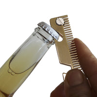 Get smart compact key holder keychain with built in tools bottle opener phone stand gold frame plus anti loosening washer great presenthair comb