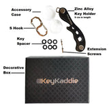 Shop key holder compact key organizer multitool keychain and bottle opener including durable zinc frame black anti loosening spacers screws by keykaddie