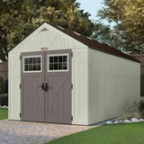 Online shopping suncast 16 x 8 tremont storage shed outdoor storage for backyard tools and accessories all weather resin material transom windows and shingle style roof
