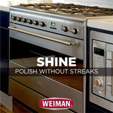 Weiman Stainless Steel Wipes - 4 Pack - Removes Fingerprints, Residue, Water Marks and Grease From Appliances - Works Great on Refrigerators, Dishwashers, Ovens and More - 30 Count