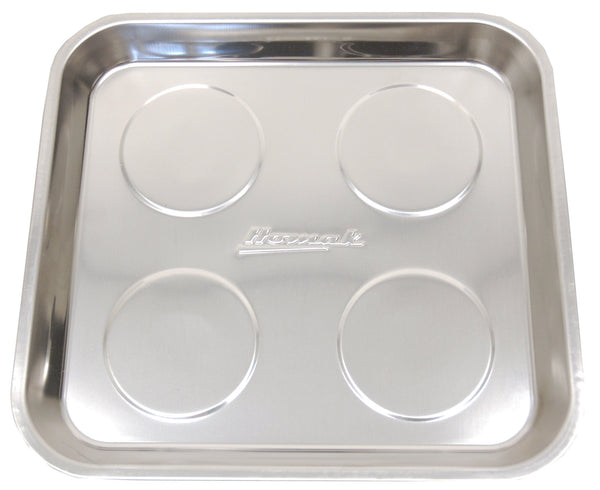 Homak 11-Inch Square Magnetic Tray, Stainless Steel, HA01011000