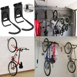 Amazon best heavy duty slatwall bike hook storage system vertical bicycles rack for garden garage shed organization easily hang detach tools hanger black 2 pack 6 8 bike hook