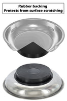 "Drixet 5-3/4"" Large Magnetic Parts Tray, Nut and Bolt Round Stainless Steel Bowl 