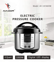 Avador AV-13CS603W 10 Preset Menu Pressure Cooker 6Qt/1000W, Stainless Steel Cooking Pot and Exterior
