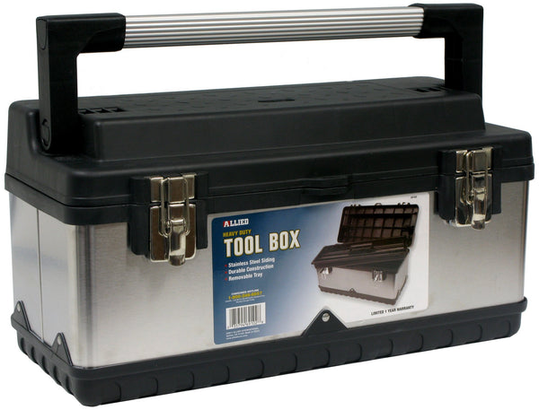Allied Tools Tool Box with Stainless Steel Sliding