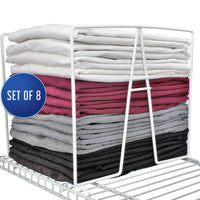 "Shelf Dividers for Closets - Sturdy Closet Organizer and Storage Separator to Tidy your Linen Purses Sweater & More - New 2019 TitanSecure Metal Shelf Organizer Work with 12"" Wire Shelves (Set of 8)"