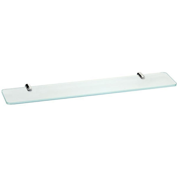 BA Altissima Wall Mounted Glass Storage Shelf Organizer Towel Rack - Brass