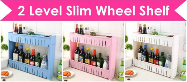 Slim Wheels Shelves 2 3 4 Levels Layers Shelf Organizer Organiser Rack Storage