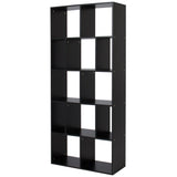 12-Shelf Cube Bookcase Shelf Organizer - Black