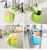 Creative Kitchen Bathroom Sink Sponge Storage Rack Basket Wash Cloth Soap Toiletries Holder Shelf Organizer Kitchen Tool Gadgets