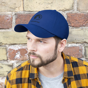 Streamer Logo (Navy Blue) Unisex Twill Hat