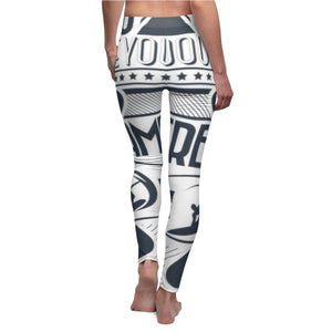 Women's Cut & Sew Casual Leggings (You Heart)