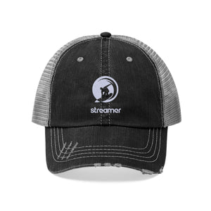 Streamer Logo (White) Unisex Trucker Hat