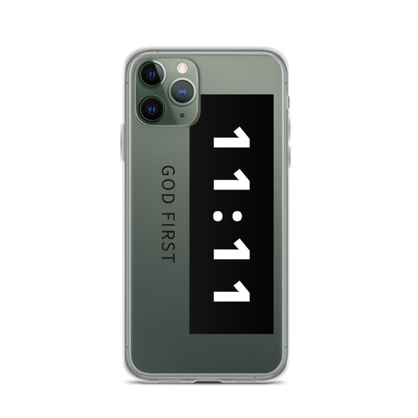 11:11 Black - Phone Case for iPhone
