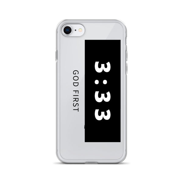3:33 Black - Phone Case for iPhone