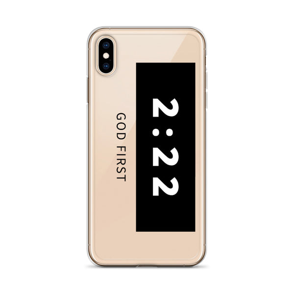2:22 Black - Phone Case for iPhone
