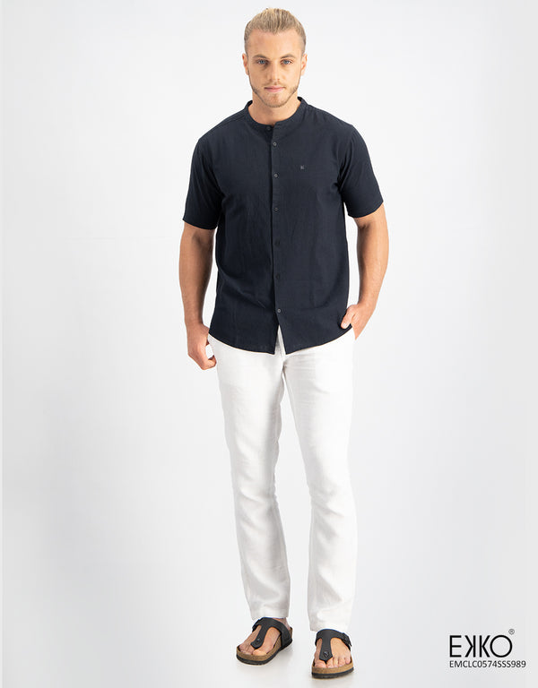 Linen Cotton Short Sleeve Shirt - EMCLC0574SSS