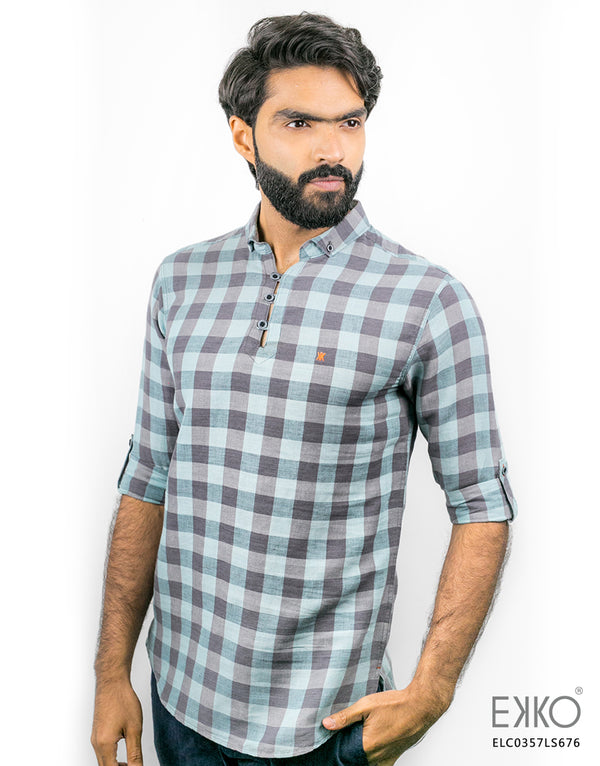 Linen Roll-Up Shirt ELC0357LS