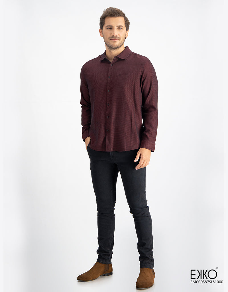Cotton Long Sleeve Shirt  EMCC0587SLS