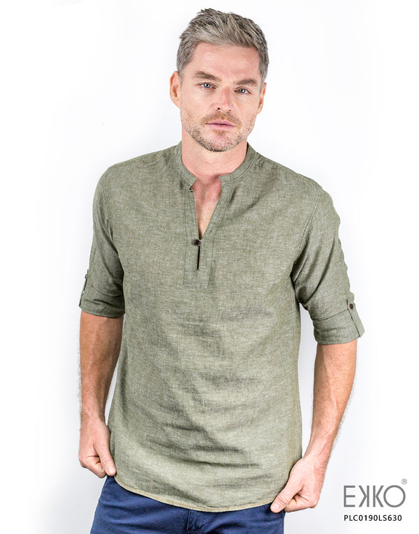 Linen Roll-Up Shirt PLC0190LS