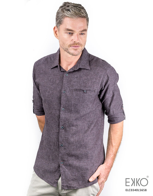 Linen Roll-Up Shirt ELC0340LS